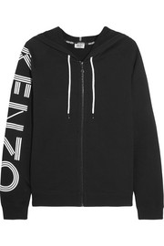 KENZO Printed cotton-jersey hooded top