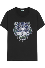 KENZO Tiger appliquéd cotton-jersey T-shirt