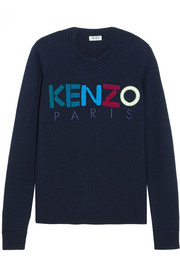 KENZO Embroidered wool sweater