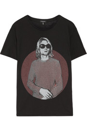 R13 Kurt Boy printed cotton and cashmere-blend T-shirt