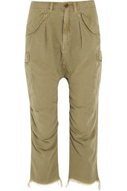 R13 Frayed cotton-blend cargo pants