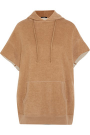 R13 Cotton and camel-blend hooded top