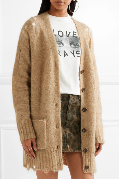R13 | Distressed knitted cardigan | NET-A-PORTER.COM