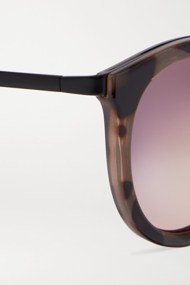 43adc8337d6 Le Specs. No Smirking round-frame acetate mirrored sunglases.  80. Zoom In