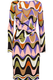 Emilio Pucci Gathered printed jersey dress
