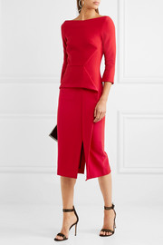 Ardingly crepe peplum dress