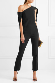 Carlton one-shoulder crepe jumpsuit