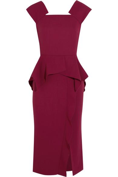 Roland Mouret. Sawleigh wool-crepe peplum dress