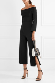 Roland Mouret Felbridge off-the-shoulder jersey jumpsuit