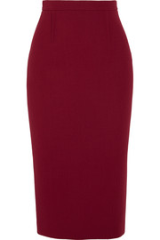 Arreton wool-crepe skirt