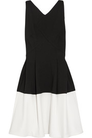 Roland Mouret Ellesfield two-tone crepe dress