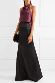 Roland Mouret Aries satin maxi skirt