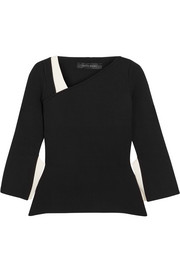 Roland Mouret Penhurst asymmetric stretch-knit top
