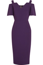 Roland Mouret Awalton cold-shoulder crepe dress