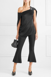 Roland Mouret Heartwell one-shoulder embellished satin top
