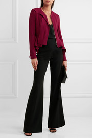 Roland Mouret Lavenden ruffled asymmetric wool-crepe jacket