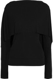 Roland Mouret Bagnet cape-effect stretch-crepe top