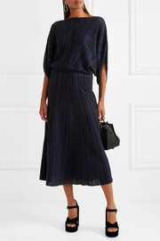 Sonia Rykiel Plissé stretch-knit midi skirt