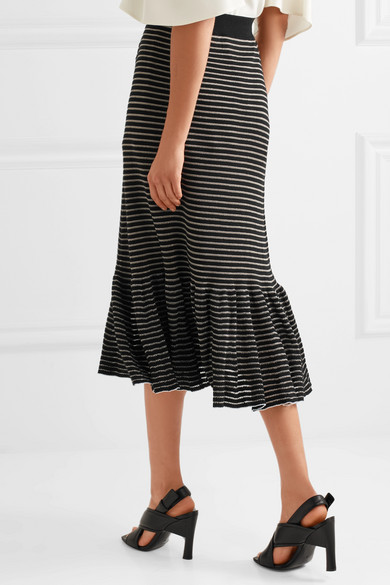 Sonia Rykiel striped midi skirt Outlet View 2018 New For Sale WGLWtmphY