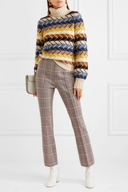 Sonia Rykiel Checked wool-blend slim-leg pants