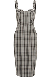 Checked woven dress