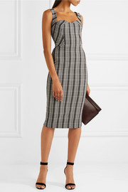 Victoria Beckham Checked woven dress