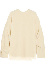 Victoria Beckham Frayed wool-blend bouclé sweater