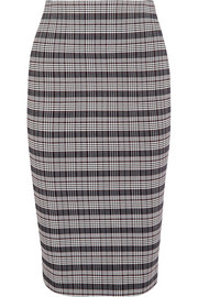 Victoria Beckham Checked woven pencil skirt