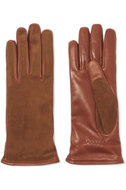 Lanvin Suede and leather gloves