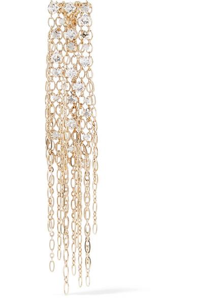 Lanvin - Fringed Gold-tone Swarovski Crystal Brooch at NET-A-PORTER