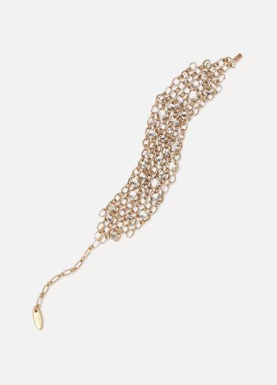 Lanvin - Gold-tone Swarovski Crystal Bracelet at NET-A-PORTER