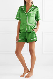 Millicent silk-satin pajama set