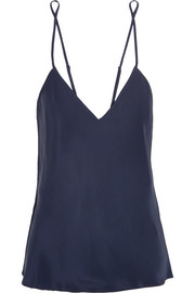 Lily washed-silk camisole