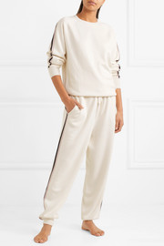 Moscow striped silk-blend sweatshirt and track pants set