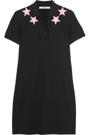 Givenchy Appliquéd cotton-piqué mini dress