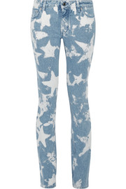 Givenchy Printed low-rise skinny jeans