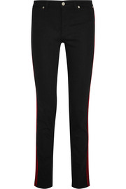 Givenchy Jean skinny taille mi-haute à finitions en velours