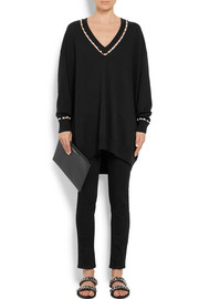 Givenchy Oversized embellished wool-blend sweater