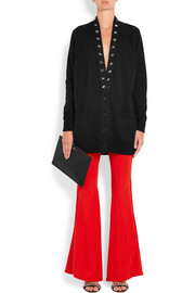 Givenchy Satin-trimmed stretch-crepe flared pants