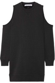 Givenchy Cold-shoulder embroidered cotton-jersey sweatshirt