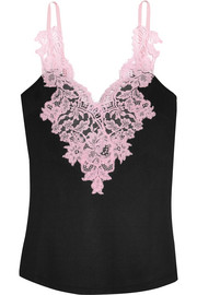 Givenchy Chantilly lace-trimmed jersey camisole