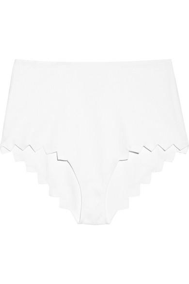 Marysia - Mexico Scalloped Bikini Briefs - White