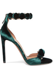 Alaïa Studded velvet sandals