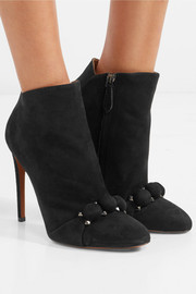 Alaïa Studded suede ankle boots