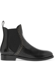 Alaïa Laser-cut leather Chelsea boots