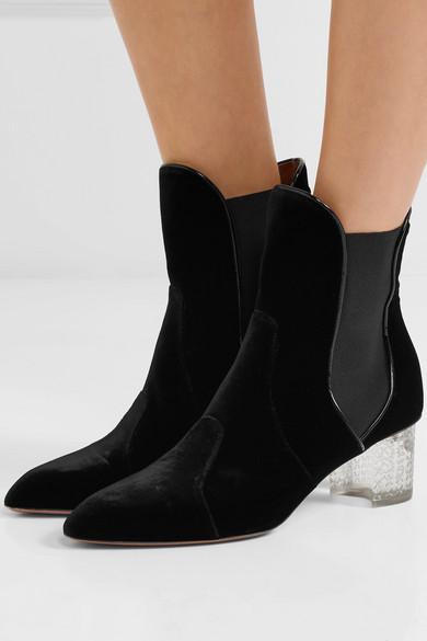 ccc60f264d7 Velvet ankle boots