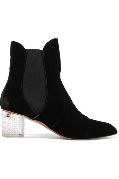 Velvet Ankle Boots by Alaïa