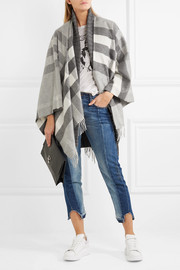 Burberry Checked cashmere and merino wool-blend wrap