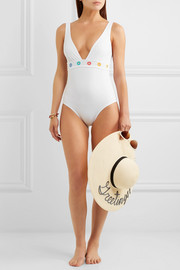 Karla Colletto Prisma mesh-trimmed swimsuit
