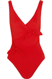 Karla Colletto Barcelona tie-front swimsuit